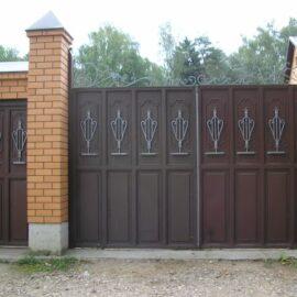 Виды и особенности ворот из металла